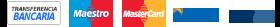 Métodos de pago transferencia bancarias, visa, master card y paypal